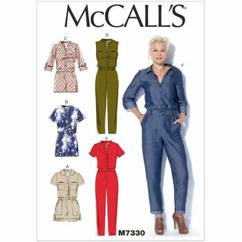 McCall's Sewing Pattern M7330 Misses Rompers/Jumpsuits