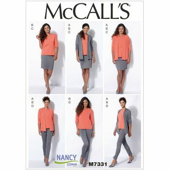 McCall\'s Sewing Pattern M7331 (Misses Jacket/Top/Skirt/Pants)