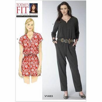 Vogue Sandra Betzina Sewing Pattern V1483 (Misses Jumpsuit)