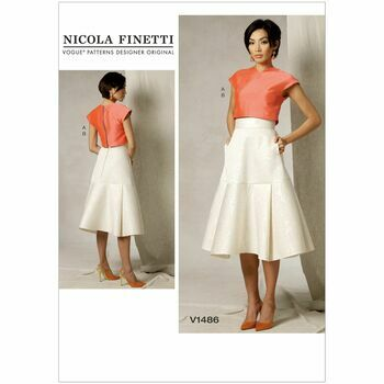 Vogue Nicola Finetti Sewing Pattern V1486 (Misses Top & Skirt)