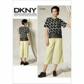 Vogue DKNY Sewing Pattern V1492 (Misses Top & Pants)