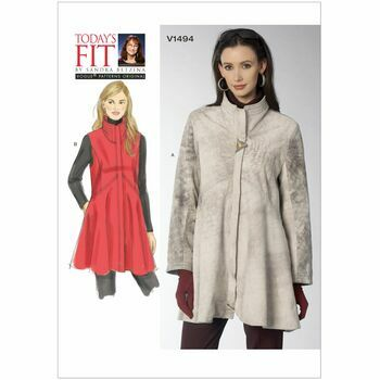 Vogue Sandra Betzina Sewing Pattern V1494 (Misses Coat & Vest)