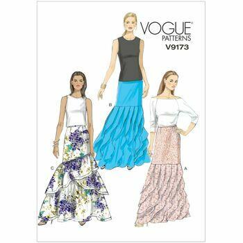 Vogue Sewing Pattern V9173 (Misses Skirt)