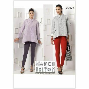 Vogue Marcy Tilton Sewing Pattern V9174 (Misses Shirt/Pants)