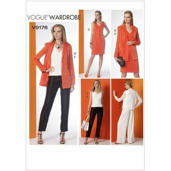 Vogue Sewing Pattern V9176 (Misses Jacket/Top/Dress/Pants)