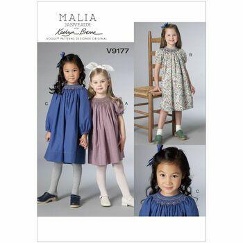 Vogue Kathryn Brenne Pattern V9177 (Girls Dress)