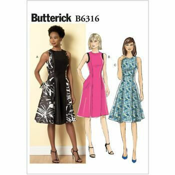 Butterick Sewing Pattern B6316 (Misses Dress)