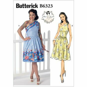 Butterick Sewing Pattern B6323 (Misses Dress)