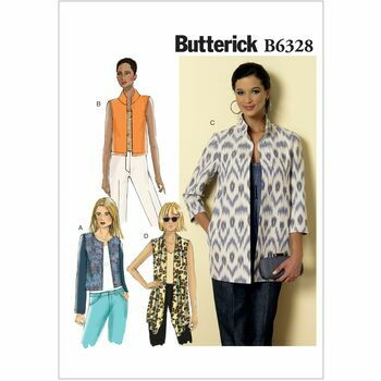 Butterick Pattern B6328 Misses' Open-Front Jacket'