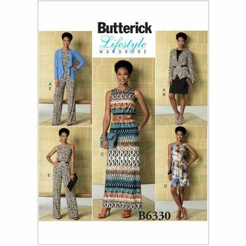 Butterick Lifestyle Wardrobe Sewing Pattern B6330 (Misses Jacket/Dress/Jumpsuit)