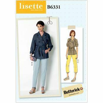 Butterick Lisette Sewing Pattern B6331 (Misses Jacket/Pants)