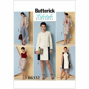Butterick Lifestyle Wardrobe Sewing Pattern B6332 (misses Jacket/Dress/Skirt)