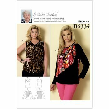 Butterick Connie Crawford Sewing Pattern B6334 (Misses Top)