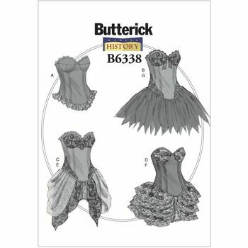 Butterick Making History Sewing Pattern B6338 (Misses Costumes)