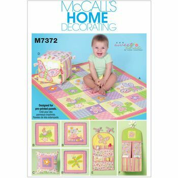 McCalls Pattern M7372 Nursery Blanket, Pillow and Accessories