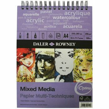 Daler Rowney Mixed Media A4 Spiral Pad (Pack of 2)