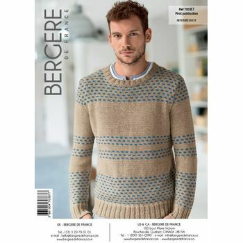 Mag. 178 #02 Round-neck jacquard sweater