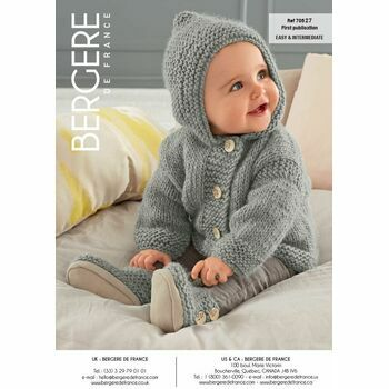 Cat. 15/16 #191 - Grey hooded coat