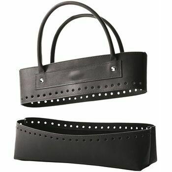 Black Faux Leather Bag Kit