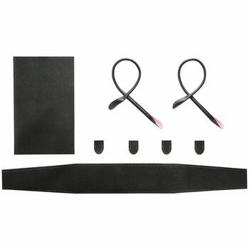 Black Faux Leather City Bag Kit