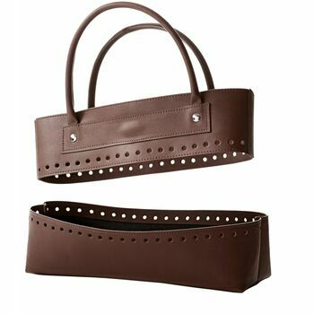 Brown Faux Leather Bag Kit