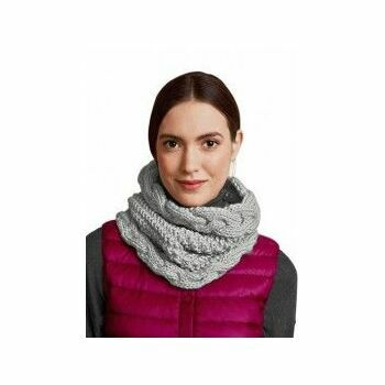 Grey Twisted Snood Kit (with needles)