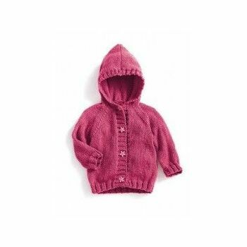 Pink Hooded Coat Kit - 3-12 months (with needles)