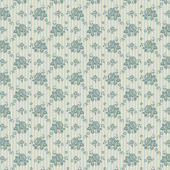 Tilda Spring Diaries Emily Teal Quilting Fabric (per metre)