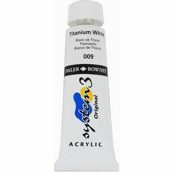 System 3 Original Acrylic Colour - Titanium White (75ml)