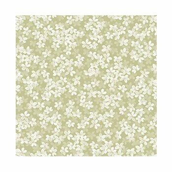 Dover Hill Fresh Petals Light Green Fabric