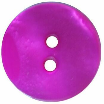 Fuchsia Button: Size 17.5mm