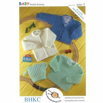 BHKC 5 DK Knitting Pattern - Sweater, Hat & Cardigans