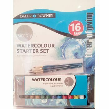 Daler Rowney Simply Watercolour Starter Set (16pcs)