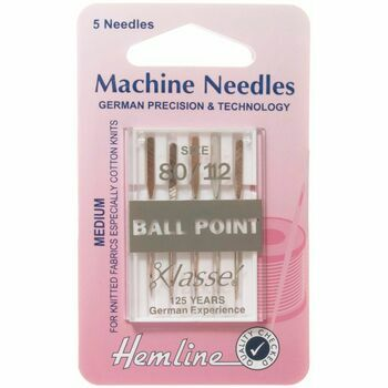 Hemline Ball Point Machine Needles - Medium 80/12