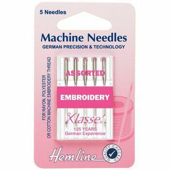 Hemline Embroidery Machine Needles - Assorted