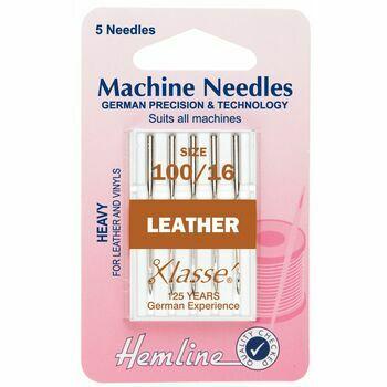 Hemline Leather Machine Needles - Heavy 100/16