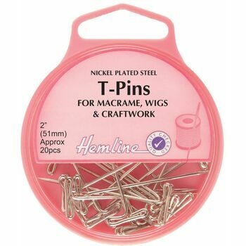 Hemline Nickel T-Pins - 51mm (20pcs)