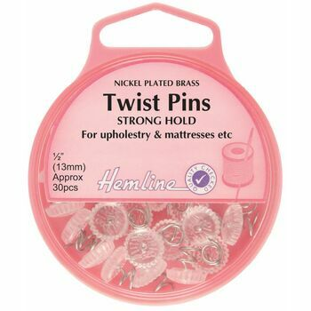 Hemline Nickel Twist Pins - 13mm (30pcs)