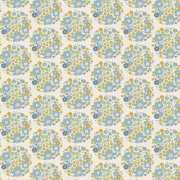 Tilda Qulit Collection: Bumblebee: Flower Nest - Blue (per metre)