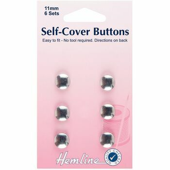 Hemline Self-Cover Buttons - Metal Top (11mm)