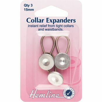 Hemline Metal Collar Expanders - 15mm (3pcs)