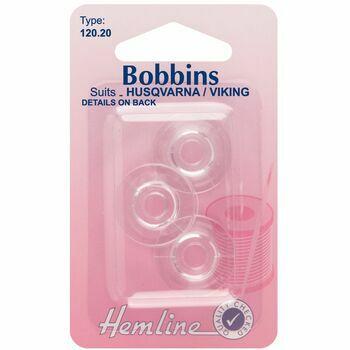 Hemline Plastic Bobbins - Husqvarna/Viking (Type 120.20)