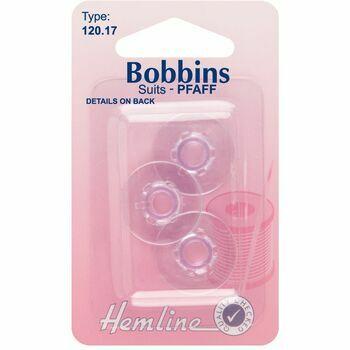 Hemline Plastic Bobbins - Pfaff