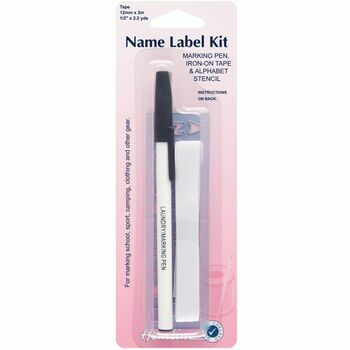 Hemline Name Label Kit (Pen, Tape & Stencil)