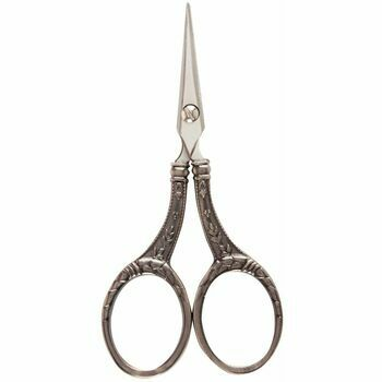 Hemline Pro Cut Embroidery Scissors - Antique Silver (4.25in)