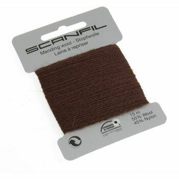 Scanfil Mending Wool - Brown (15m)