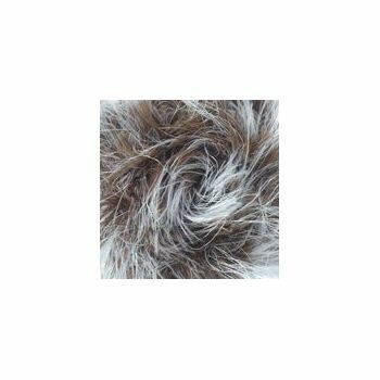 Brett - Faux Fur - Brown and White - (100g)