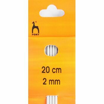 Pony Double Ended Knitting Needles - 20cm x 2mm (Set of 4)