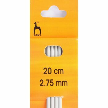Pony Double Ended Knitting Needles - 20cm x 2.75mm (Set of 4)