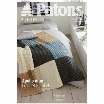 Patons Apollo Aran Crochet Blankets Leaflet (3870)